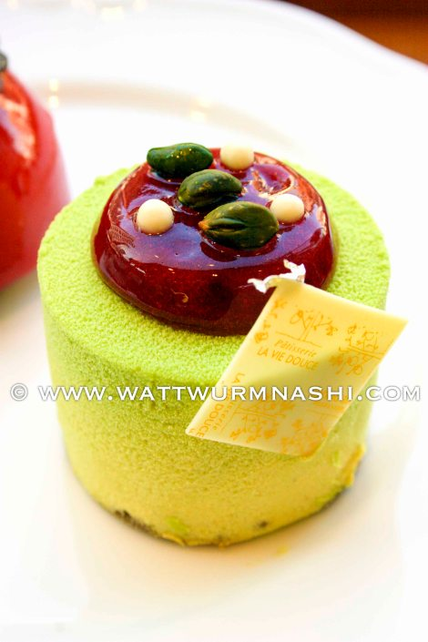 Pistachio + sour cherry